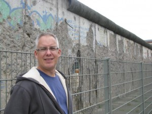 Next to what's left of the Berlin Wall